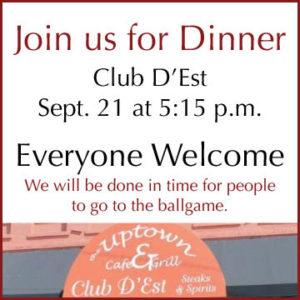 Dinner at club