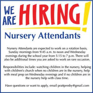 hiring nursery