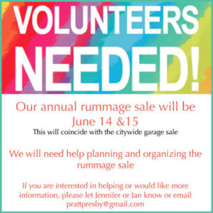 rummage sale volunteers